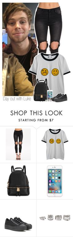 """Day out with Luke"" by shefi-22 ❤ liked on Polyvore featuring UNIF, Chicnova Fashion, Michael Kors, Converse and Forever 21"
