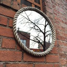 Mirror - Round Silver Rope  Need convex mirrors!