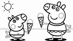 Printable Peppa Pig Coloring Pages. Have a Joy with Peppa Pig Coloring Pages. Do your children like to color pictures? If they do, the Peppa pig coloring pages Snoopy Coloring Pages, Peppa Pig Coloring Pages, Family Coloring Pages, Thanksgiving Coloring Pages, Truck Coloring Pages, Animal Coloring Pages, Coloring Pages To Print, Coloring For Kids, Printable Coloring Pages