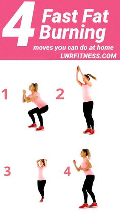 4 Fast Fat Burning Moves You Can Do At Home - fat burning, fat burning exercises, fat burning workouts, fat burning workout plan, fat burning wor - Fitness Workouts, Gewichtsverlust Motivation, Fitness Routines, Easy Workouts, Workout Routines, Extreme Workouts, Funny Fitness, Fitness Weightloss, Workout Videos
