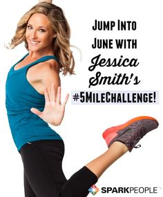 Summer's heeeerrrreeee! Jump on in with Jessica Smith's 5 mile challenge! Are you up for the fun workout? What are you waiting for--get healthy, today!