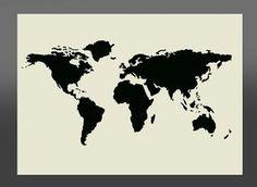 Monde carte pochoir - différentes tailles-de haute qualité Mylar