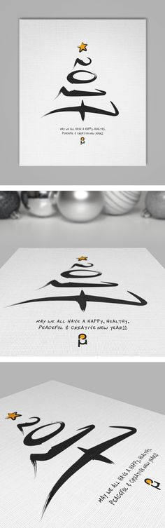 Christmas & New Year Greeting Cards by Vasilis Magoulas graphic design poster New Year Greeting Cards, New Year Greetings, Xmas Cards, New Year Cards Handmade, Vestidos Luau, Christmas And New Year, Christmas 2017, Christmas Poster, Poster Design