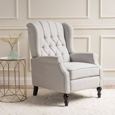 Find Christopher Knight Home 296110 Elizabeth Tufted Fabric Arm Chair Recliner, Beige online. Shop the latest collection of Christopher Knight Home 296110 Elizabeth Tufted Fabric Arm Chair Recliner, Beige from the popular stores - all in one Furniture, Accent Chairs, Living Room Furniture, Reclining Sofa, Farmhouse Recliner Chairs, Best Recliner Chair, Fabric Armchairs, Chair, Armchair