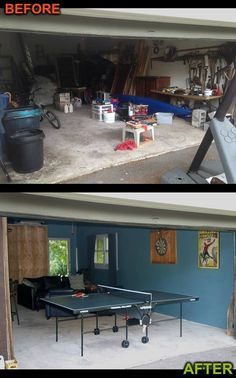 1000 images about man cave garage makeover game room on for Garage low cost
