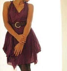 Farb- und Stilberatung mit www.farben-reich.com - Alice...Pflaume, Seidenmischgewebe (eine Größe) von cocoricooo auf DaWanda.com