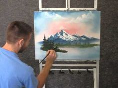Paint with kevin hill - unedited mountain sunrise (+playlist) acrylic painting inspiration, Oil Painting Lessons, Painting Techniques, Painting Videos, Acrylic Painting Inspiration, Acrylic Painting Tutorials, Wet On Wet Painting, Painting & Drawing, Kevin Hill Paintings, Mountain Paintings