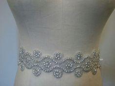 Wedding Belt, Bridal Belt, Sash Belt, Crystal Rhinestone - Style B1000. $68.00, via Etsy.