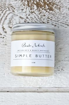 Our Simple Butter is one of the newest additions to our line of healing  skin care products and is by far our favorite!