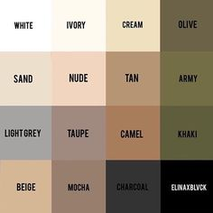 Repost cause neutrals Pick any three colors in this palette and tell me they don't match - I swear you can't! The power of a neutral…