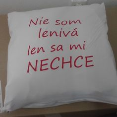 "Vankúš ""Lenivá"" za 6,90€   Jaspravim.sk"