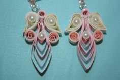 Quilled angel Earrings; don't really see them as angles per se, but interesting shapes