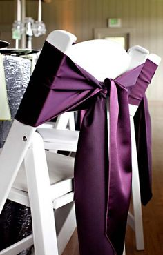 Sashes For Chairs creative ways to tie chair ties! make your event decor one of kind