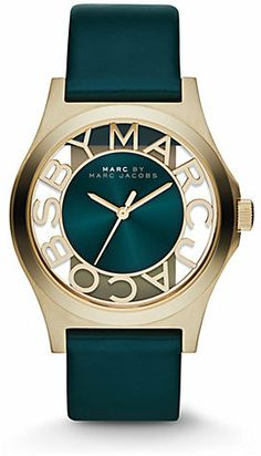 a607bd7e11a87 Marc by Marc Jacobs Goldtone Stainless Steel Cutout Dial Watch on shopstyle .co.uk