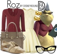 DisneyBound/Halloween Idea: Roz from Monsters Inc