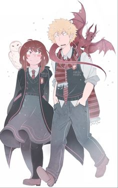 MHA X Harry Potter | Katsuki Bakugou x Ochako Uraraka