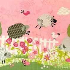 Oopsy Daisy Counting Sheep Canvas Art | Wayfair