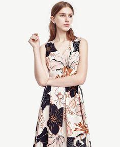 8430e02e0c48 Petite Blossom Flare Dress - $139.00 Fashion Plates, Fashion Pictures, Ann  Taylor, Capsule