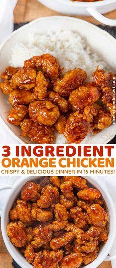 3 Ingredient Orange Chicken Sauce is made in less than 20 minutes! | #3ingredient #orangechicken #easydinner #dinner #chicken #chinesefood #easyrecipes #dinnerthendessert