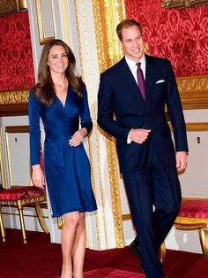 Kate Middleton wears Issa to to announce her engagement to Prince William, November 2010.