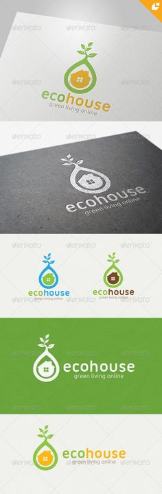 eco house Logo  #GraphicRiver        eco house – Logo Template 	 This logo design for all creative business. and real estate related company.  Logo Template Features   EPS and AI file 300PPI  CMYK  100% Scalable Vector Files  Easy to edit color / text  Ready to print  Used Free Font (Link Included Main Download) 	 If you buy and like this logo, please remember to rate it. Thanks!