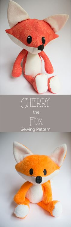 A free fox sewing pattern and tutorial.