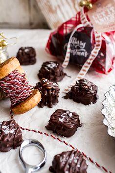 Homemade Holidays: Coconut Caramel Stuffed Chocolate Covered Pretzel Presents | halfbakedharvest.com @hbharvest