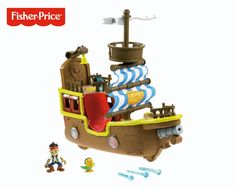 """Jake and the Neverland Pirates - Jake's Musical Pirate Ship Bucky - English Edition - Fisher-Price - Toys""""R""""Us Toys R Us, Toys For Boys, Children Toys, Bucky, Play Doh, Best Christmas Toys, Christmas Gifts, Disney Christmas, Christmas Shopping"""