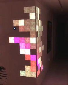 Game Room Design, Wall Design, House Design, Bedroom Setup, Room Ideas Bedroom, Nanoleaf Designs, Gaming Room Setup, Cool Gaming Setups, Computer Gaming Room