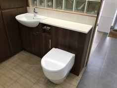 fitted bathroom furniture 1400mm · $99.00 Bathroom Mirror Cabinet, Bathroom Cabinets, Fitted Bathroom Furniture, Bathroom Interior, Bathroom Ideas, Small Space Bathroom, Modern Bathroom Design, Furniture Deals, Toilet