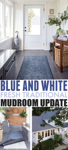Blue and White Mudroom Update | The Creek Line House Affordable Home Decor, White Walls, Mudroom, House, Blue And White, Create Decor, Home Decor, Home Decor Items, Farmhouse Style