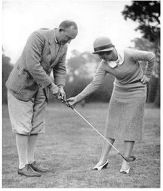 Golf Clubs Vintage Ty Cobb receiving a golf lesson from Glenna Collett Vare, who won the U. Women's Amateur six times. - You can design a branded bag in minutes with Vessels easy to use bag customizer. Create a custom bag with your colors Golf Attire, Golf Outfit, Golf Images, Best Golf Clubs, Vintage Golf, Golf Tips For Beginners, Golf Lessons, Golf Gifts, Golf Fashion