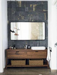 Modern Bathroom Vanities Pinterest Countertop Small Spaces And - Metal and wood bathroom vanity