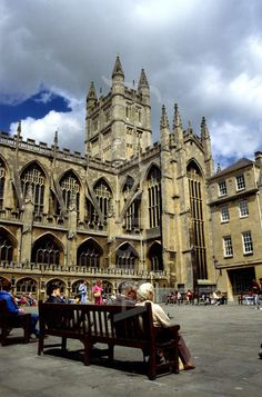 Bath Abbey, Bath Somerset, England. Founded in the 7th century, uncredited