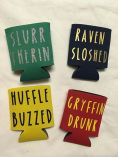 Harry Potter drink holder, Harry Potter inspired drink holder, Hogwarts drink holder, Harry Potter c Natal Do Harry Potter, Harry Potter Thema, Harry Potter Houses, Harry Potter Books, Harry Potter Love, Hogwarts Houses, Harry Potter Beer, Harry Potter Crafts Diy, Funny Harry Potter Shirts