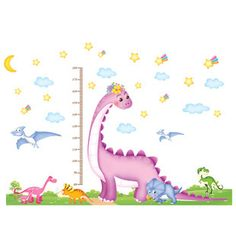 Find More Wall Stickers Information about Free shipping Large Removable Wall Decals Cartoon Dinosaur Height Sticker Animal Wall Decoration Stickers for Kids 90*120cm,High Quality stickers for your wall,China sticker making Suppliers, Cheap sticker tree from Han's Wonderland on Aliexpress.com