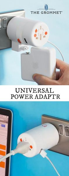 Give this adapter a twist—different prongs work in over 150 countries. Charge three or four devices at once with a single outlet.