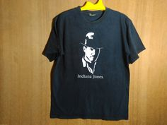 Vintage Indiana Jones Harrison Ford Fiction Movies T Shirt by ArenaVintage