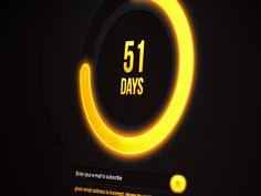 Dribbble - Circle Countdown Timer Yellow by Greg Dlubacz