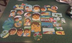 Go Diego Go scrapbooking die cuts party decor card by amylaugh, $4.25