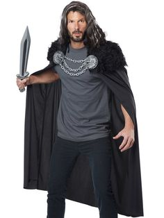 Adult Wolf Clan Warrior Cape by California Costumes 60648 for sale online Popular Costumes, Costumes For Teens, Boy Costumes, Couple Halloween Costumes, Costume Ideas, Halloween Couples, Halloween Makeup, Halloween Party, Renaissance Costume