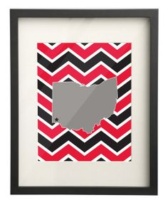University of Cincinnati Ohio State Map 8x10 Chevron Print $15.00 Use: PIN10 for 10% OFF!