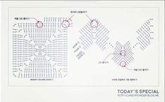Image Article – Page 782781978961715043 - Her Crochet Granny Square Häkelanleitung, Granny Square Crochet Pattern, Crochet Granny, Filet Crochet, Crochet Patterns, Crochet Shell Stitch, Bobble Stitch, Crochet Rope, Knit Crochet