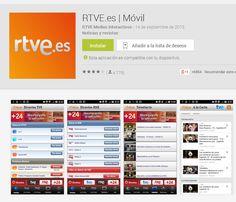 Aplicación de Radio Televisión Española. Programas completos a la carta, series de producción propia .