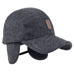 baa7450a9c2 Custom 6 panel structured baseball cap with earflap wholesale dad hat for  winter