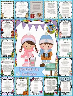 Poemas para el invierno (Winter Poems in Spanish)  ||  A collection of Fall poems (15) and (6) ideas on how to implement in your class. Poems are great for fluency and comprehension. This set is perfect for your poe https://www.kinderbilingue.com/products/copy-of-poemas-para-el-otono-fall-poems-in-spanish?utm_campaign=crowdfire&utm_content=crowdfire&utm_medium=social&utm_source=pinterest