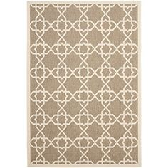 Safavieh Courtyard Collection CY6032242 Brown and Beige Indoor Outdoor Area Rug 5 feet 3 inches by 7 feet 7 inches 53 x 77 ** For more information, visit image link.