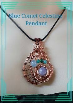 Tutorial, Celestine Blue Comet Pendant, fine wire work Learn how by MakeWireJewelry on Etsy List Of Tools, Washer Necklace, Pendant Necklace, Blue Lace Agate, Love Design, Wire Work, Stone Pendants, Fern, Unique Jewelry