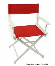 Telescope 50 World Famous Director Chair - White Frame Only - FREE SHIPPING