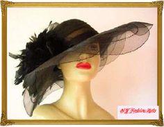 Elegant. E Dow-Porter · My Brim · Black wide brimmed fur felt fedora hat  for women ... 78b42470790a